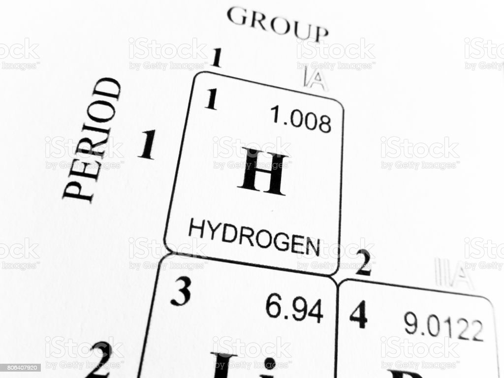 Hydrogen on the periodic table of the elements stock photo hydrogen on the periodic table of the elements royalty free stock photo gamestrikefo Choice Image