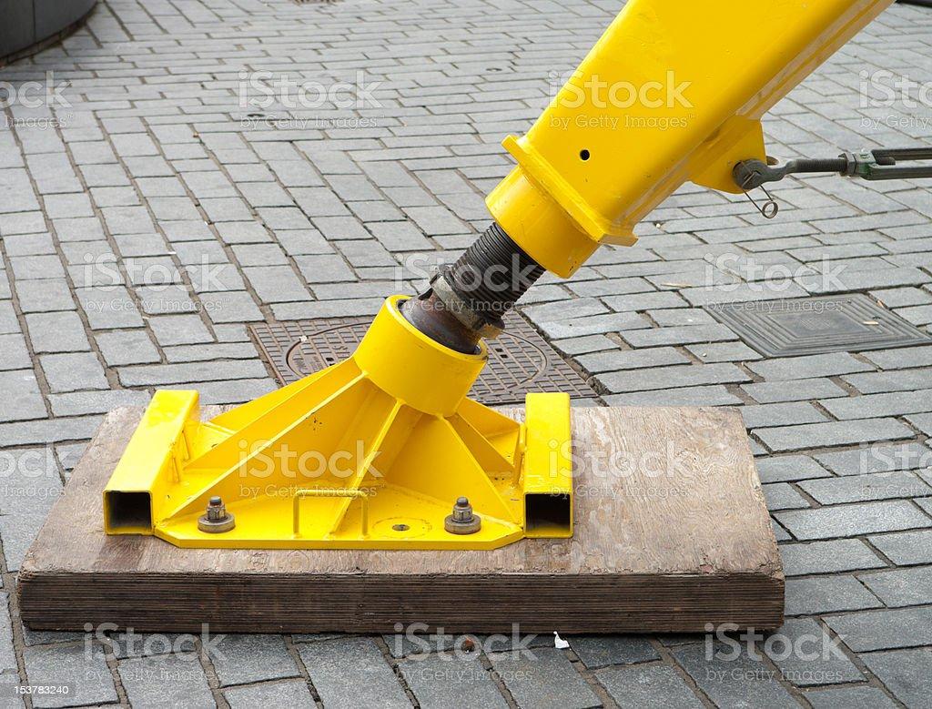 hydrolic foot stock photo