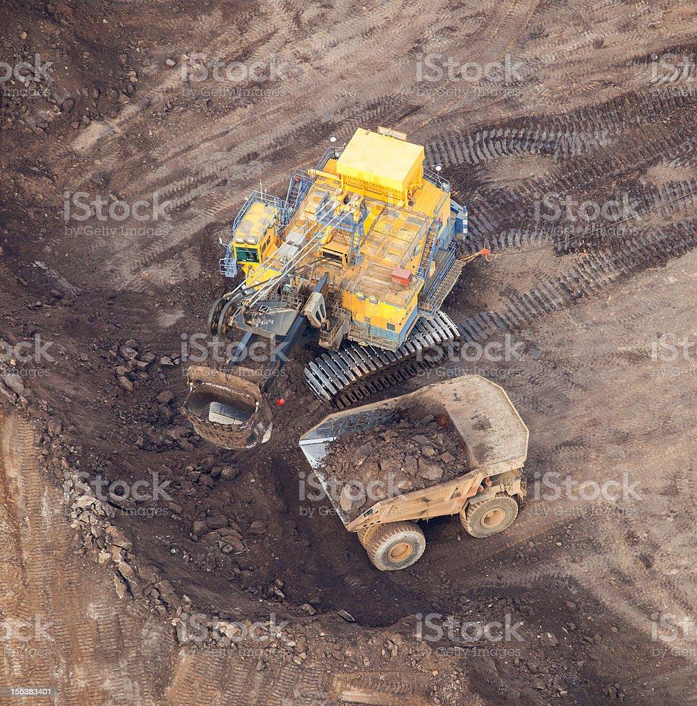 Hydrolic Mining Excavator royalty-free stock photo