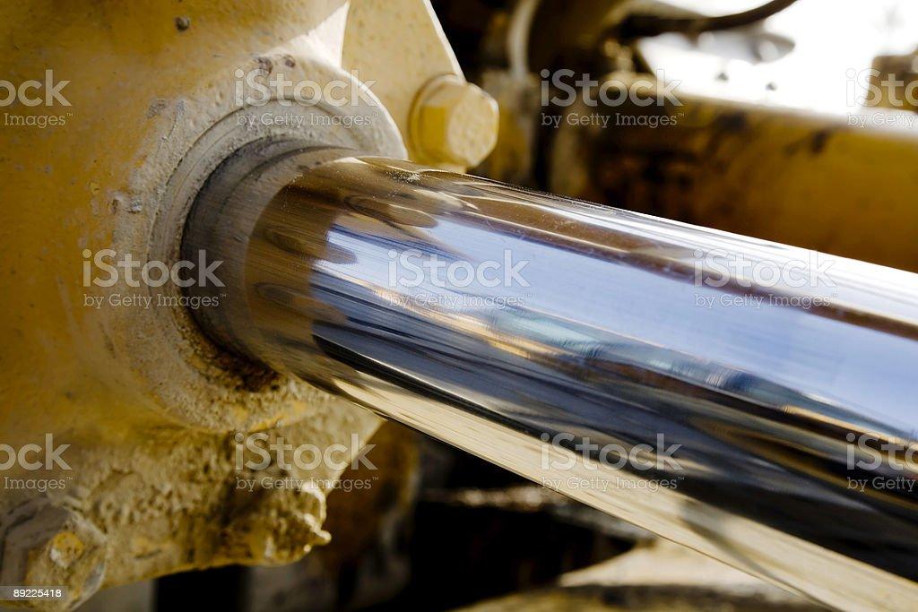 Hydrolic Piston stock photo