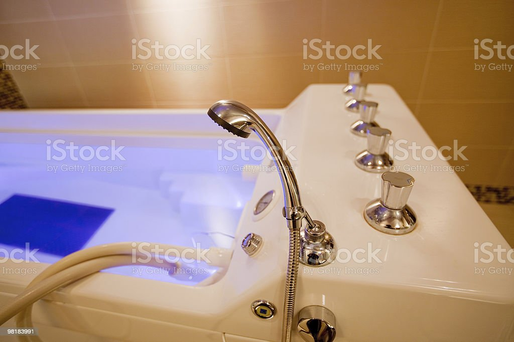 hydromassage bathtub in a cosmetologic clinic royalty-free stock photo