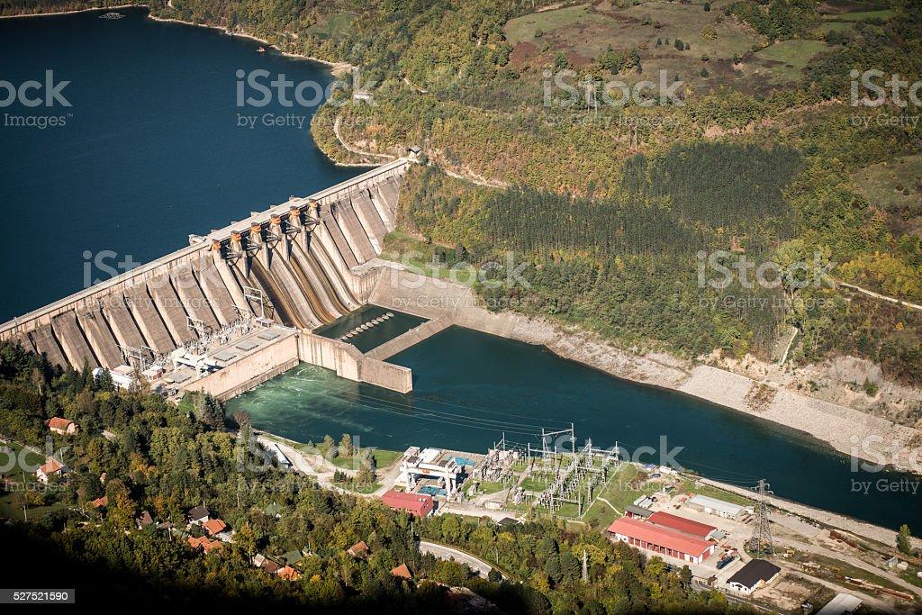 Wasserkraft Pflanzen auf Fluss Drina Serbien – Foto