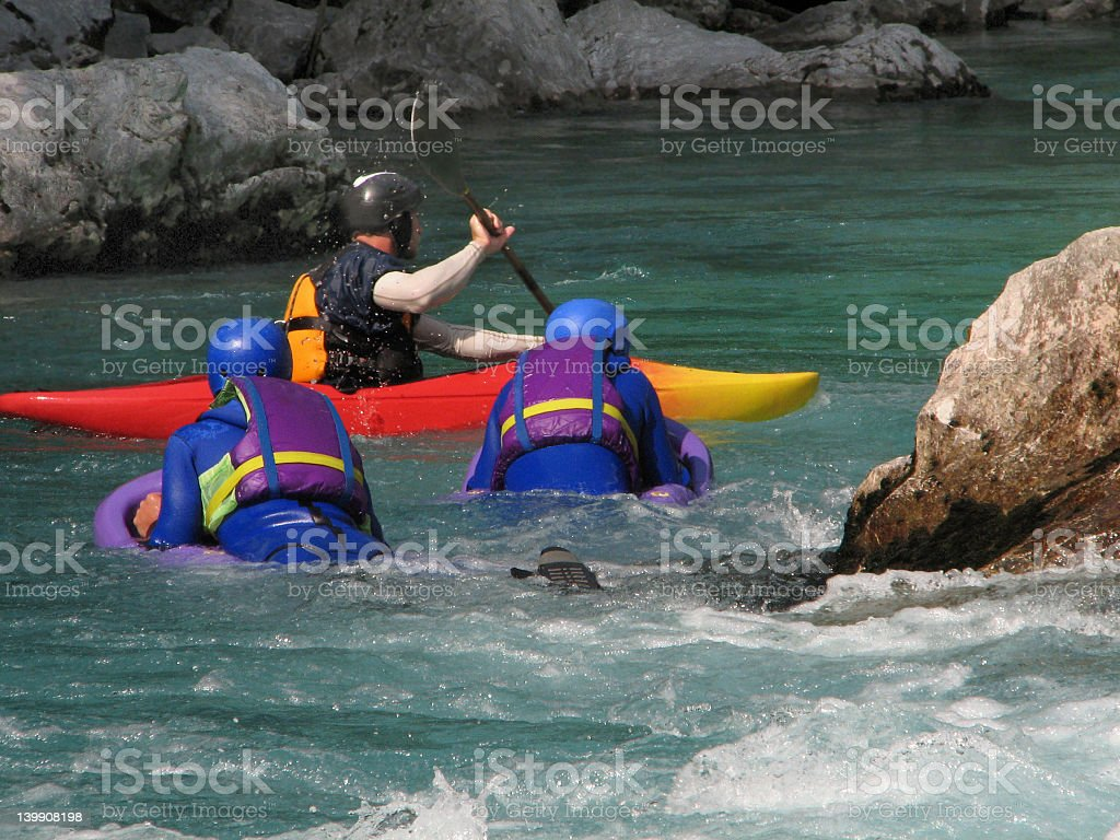 Hydrospeed and Kayaking royalty-free stock photo