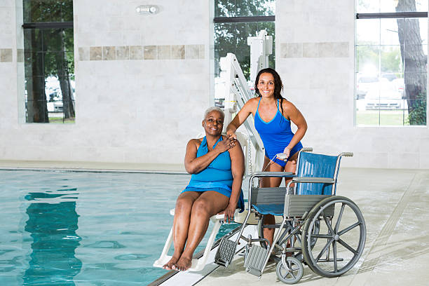 Top 60 Wheelchair Swimming Pool Stock Photos, Pictures, and Images ...
