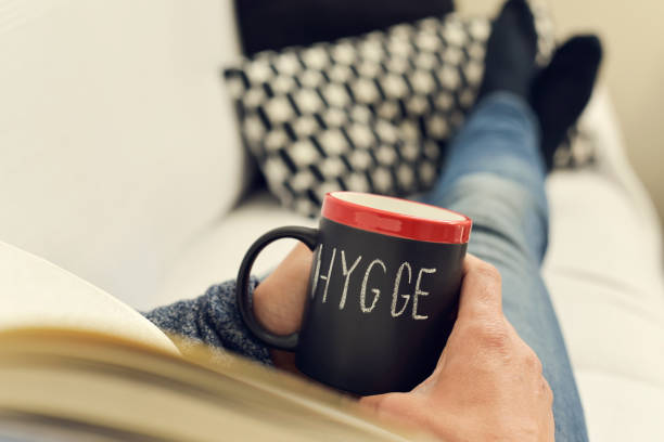 hygge, danish word for comfort or enjoy - denmark stock photos and pictures