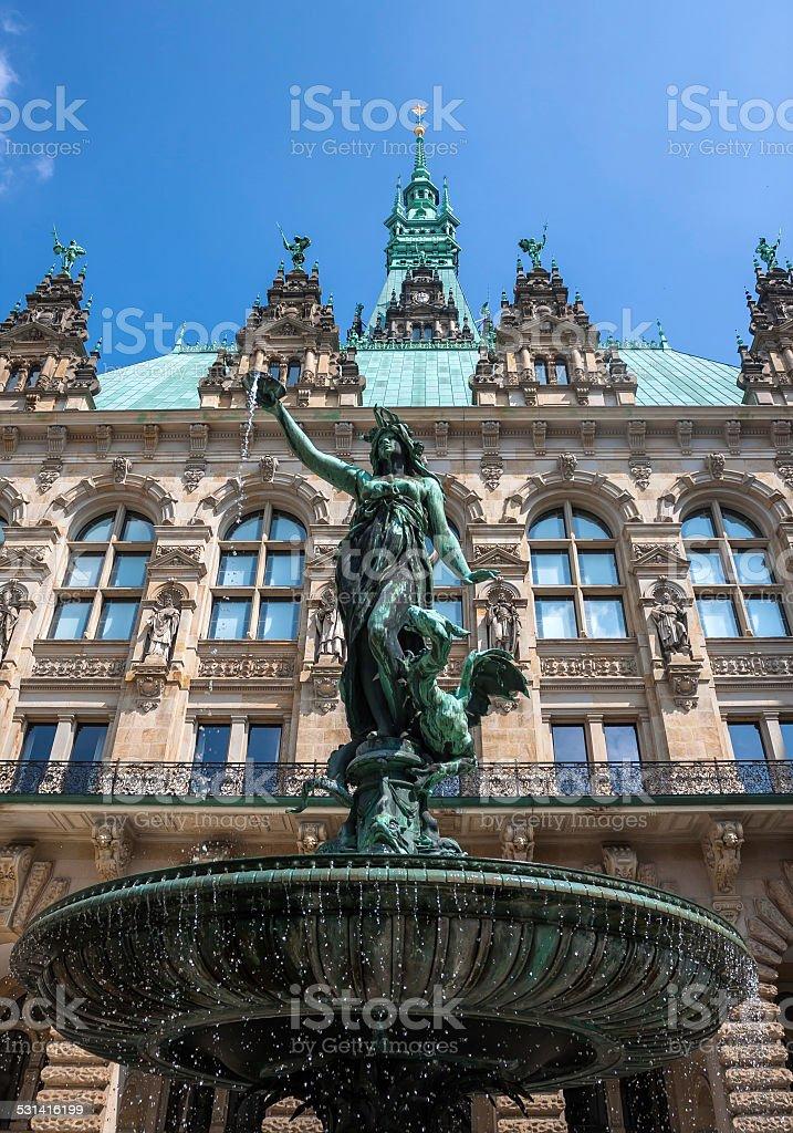 Brunnen Hamburg.Hygieia Brunnen Hamburg Statuefountain Inside Of The Rathaus