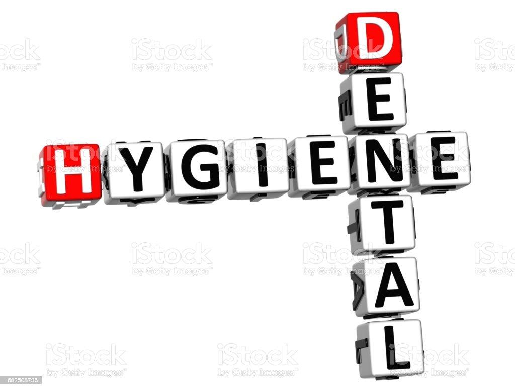 3D Hygiene Dental Crossword royalty-free stock photo