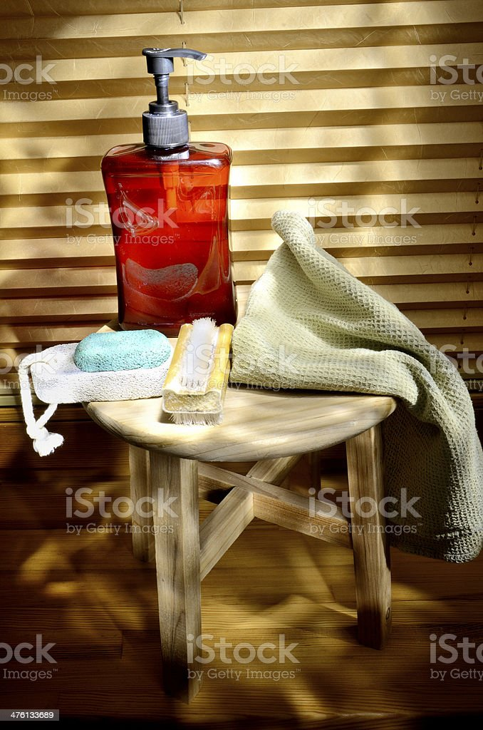 Hygiene items composition royalty-free stock photo