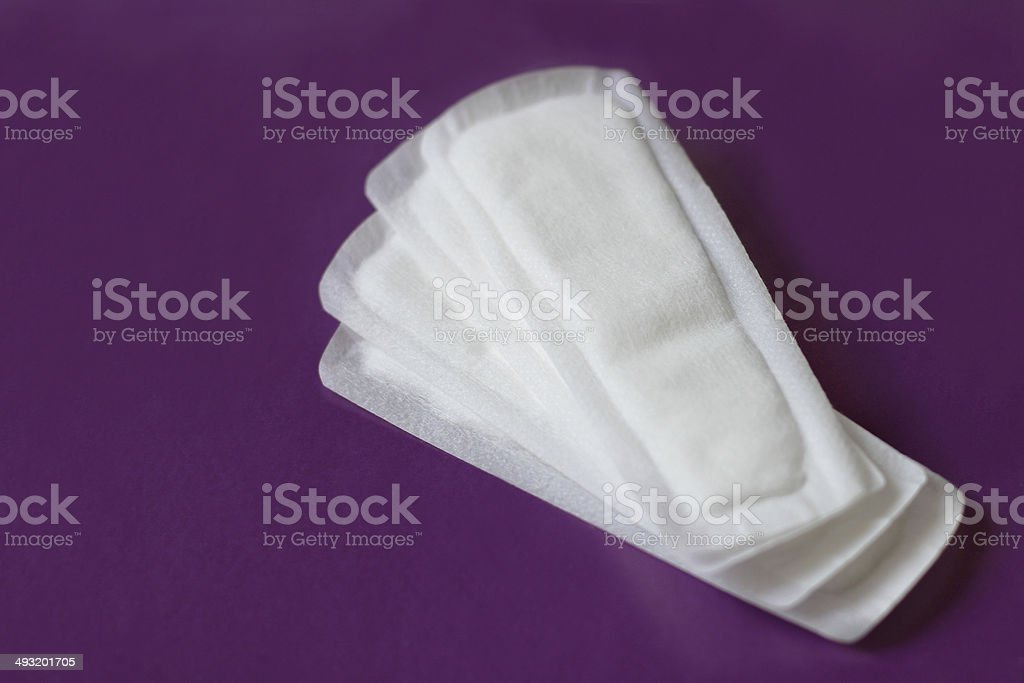 Hygienic protection for women and girls stock photo