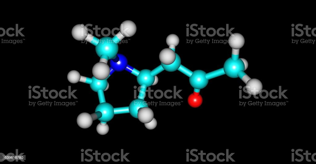 Hygrine molecular structure isolated on black stock photo
