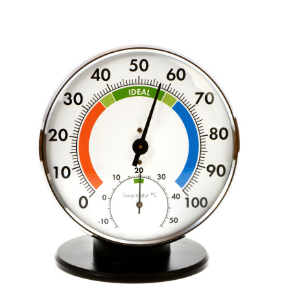 Hygrometer And Thermometer Stock Photo - Download Image Now
