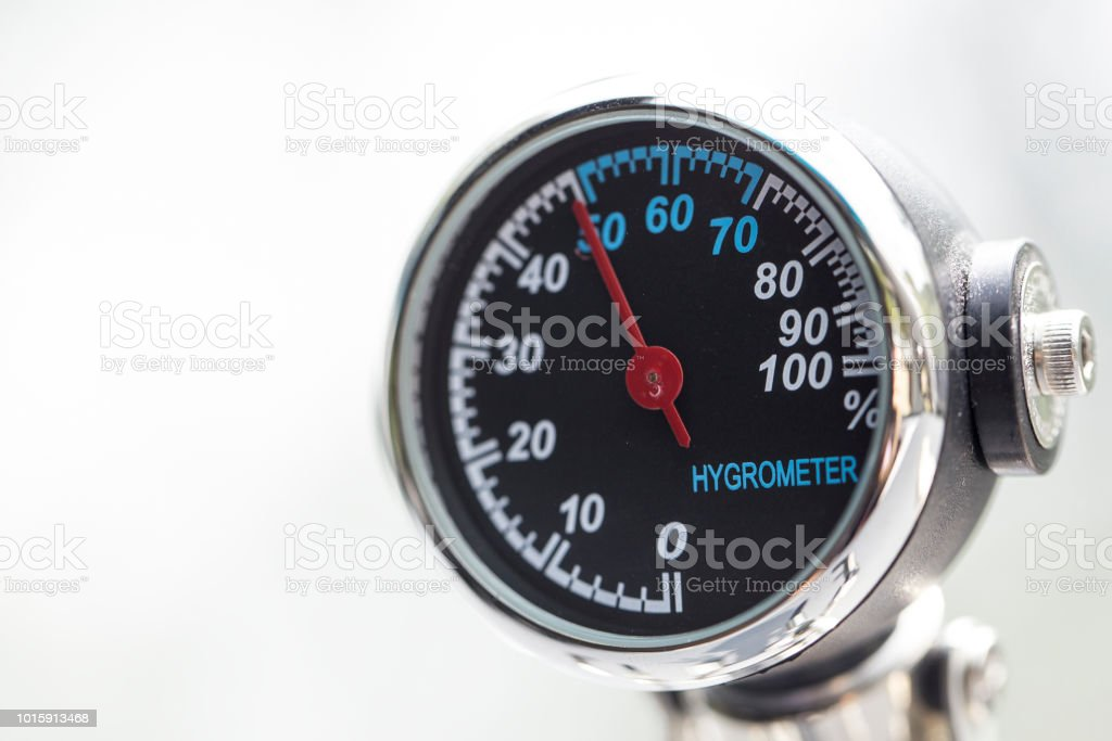 hygrometer close-up isolated hygrometer close-up isolated Arrow Symbol Stock Photo