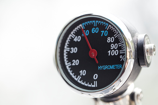Hygrometer Closeup Isolated Stock Photo - Download Image Now