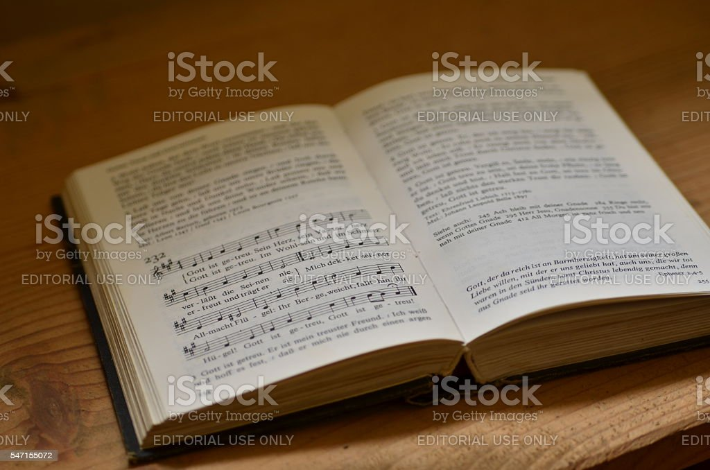 Hymnal book stock photo
