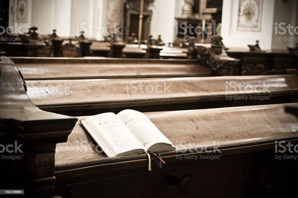Hymnal in Church stock photo
