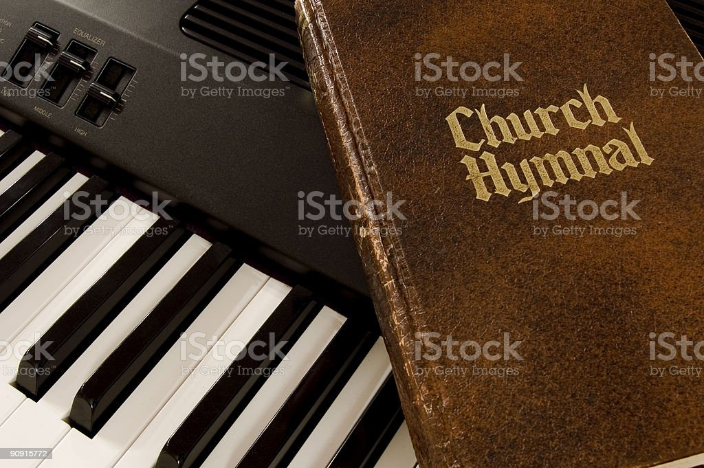 Hymnal & Keyboard stock photo