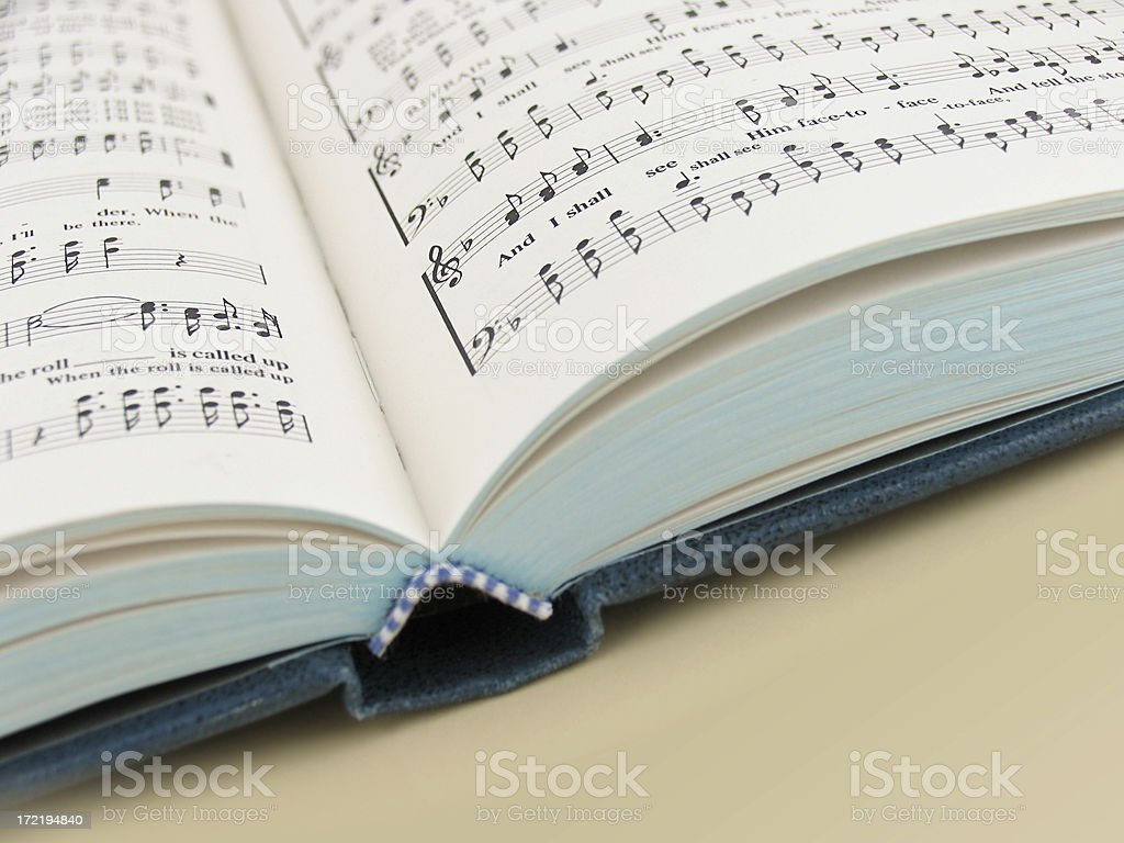 Hymnal stock photo