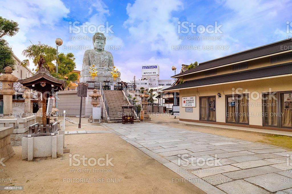Hyogo Daibutsu at Nofukuji Temple in Kobe, Japan stock photo