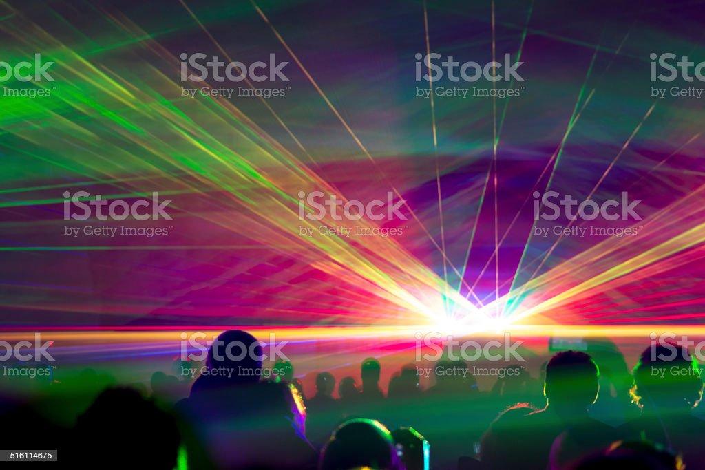 Hyper laser show stock photo