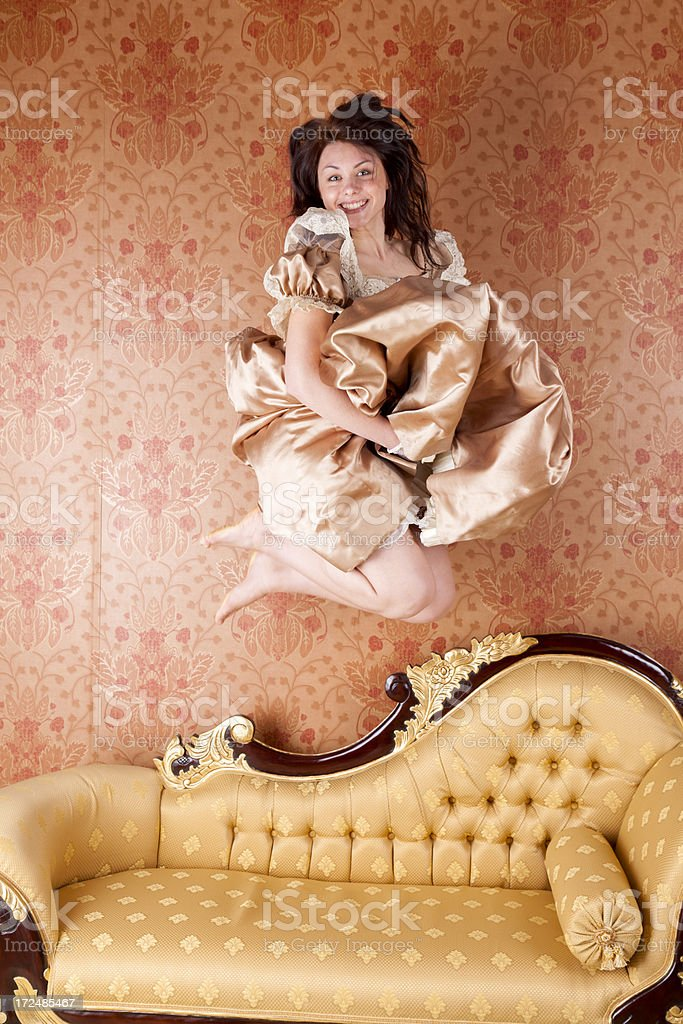 Hyperactive Young Lady royalty-free stock photo
