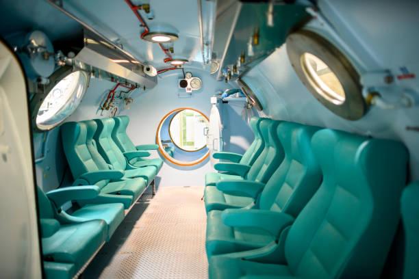 A hyperbaric chamber interior stock photo