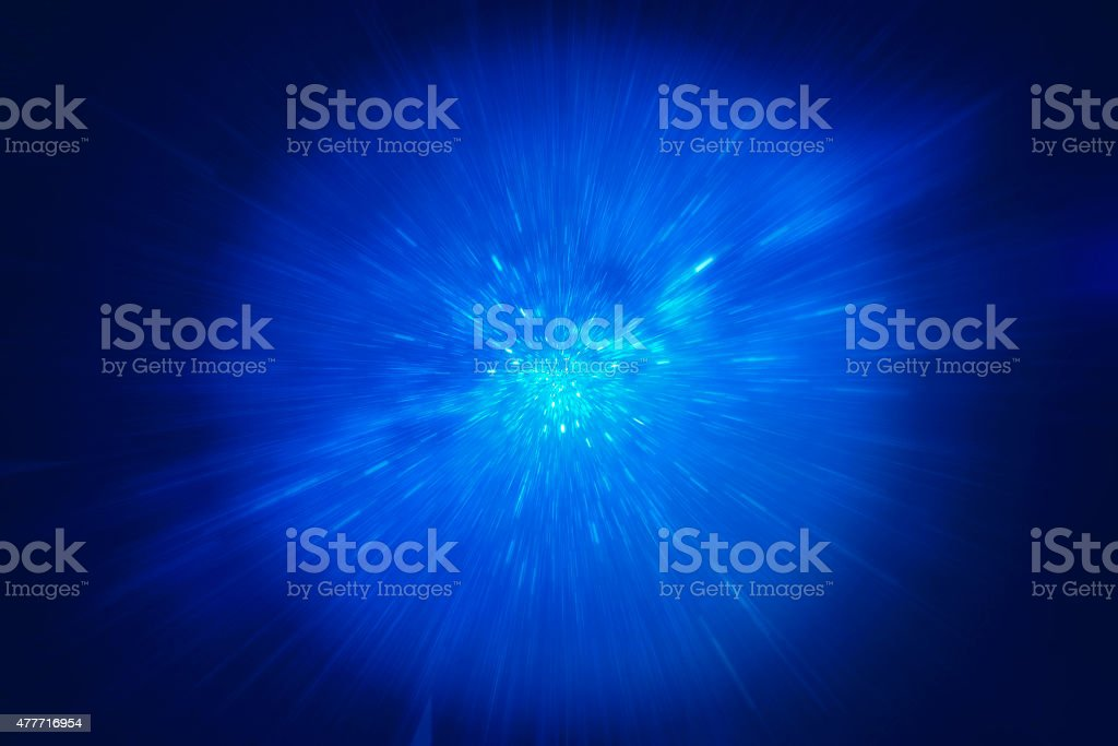 Hyperdrive science fiction concept stock photo