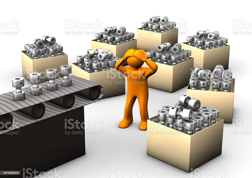 Hyperproduction stock photo