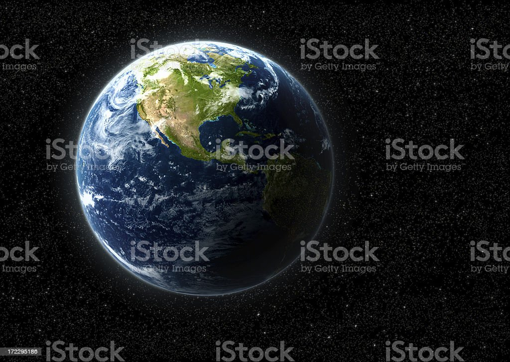 Hyper-real Planet Earth royalty-free stock photo