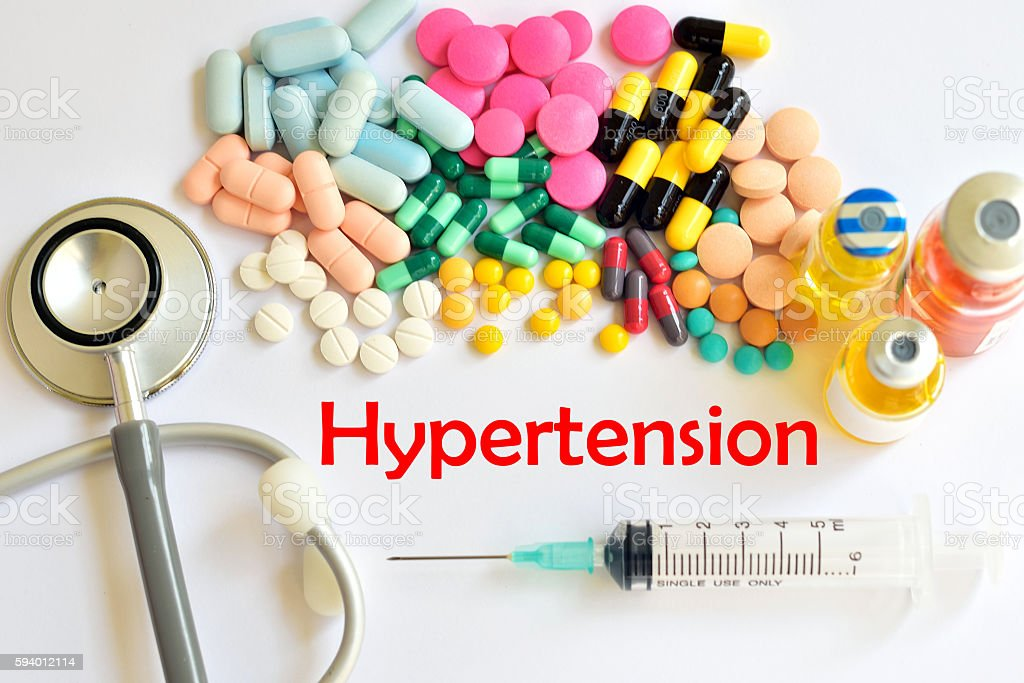 Hypertension treatment stock photo