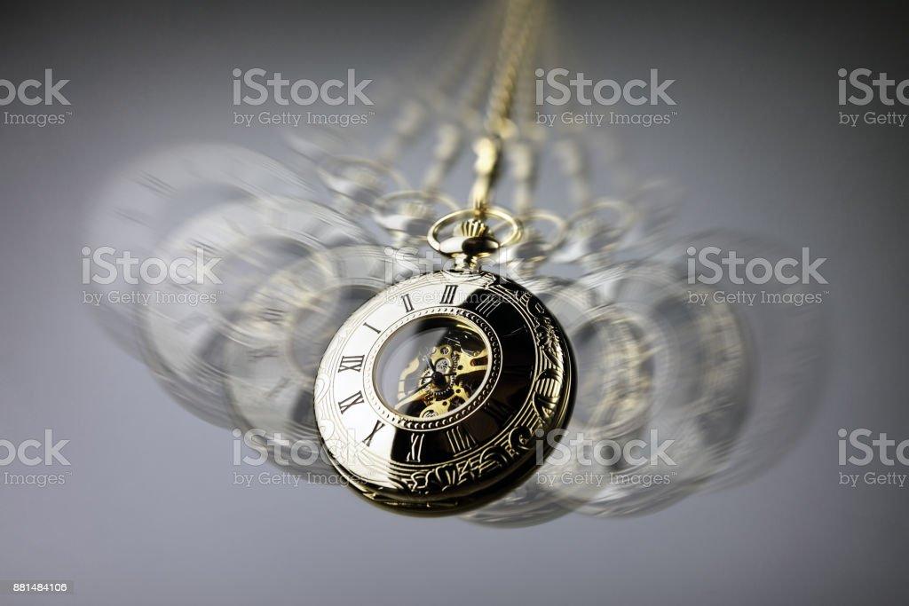 Hypnosis pocket watch stock photo