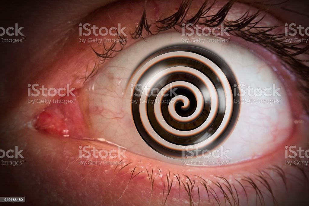 Hypnosis Swirl Eyeball stock photo