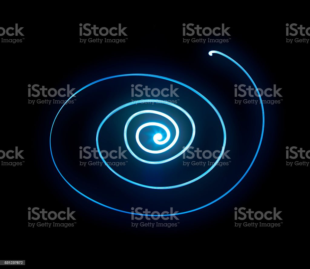 Hypnotic Blue Spiral stock photo