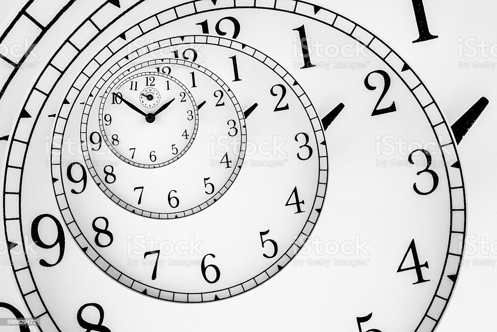 Hypnotic Clock stock photo