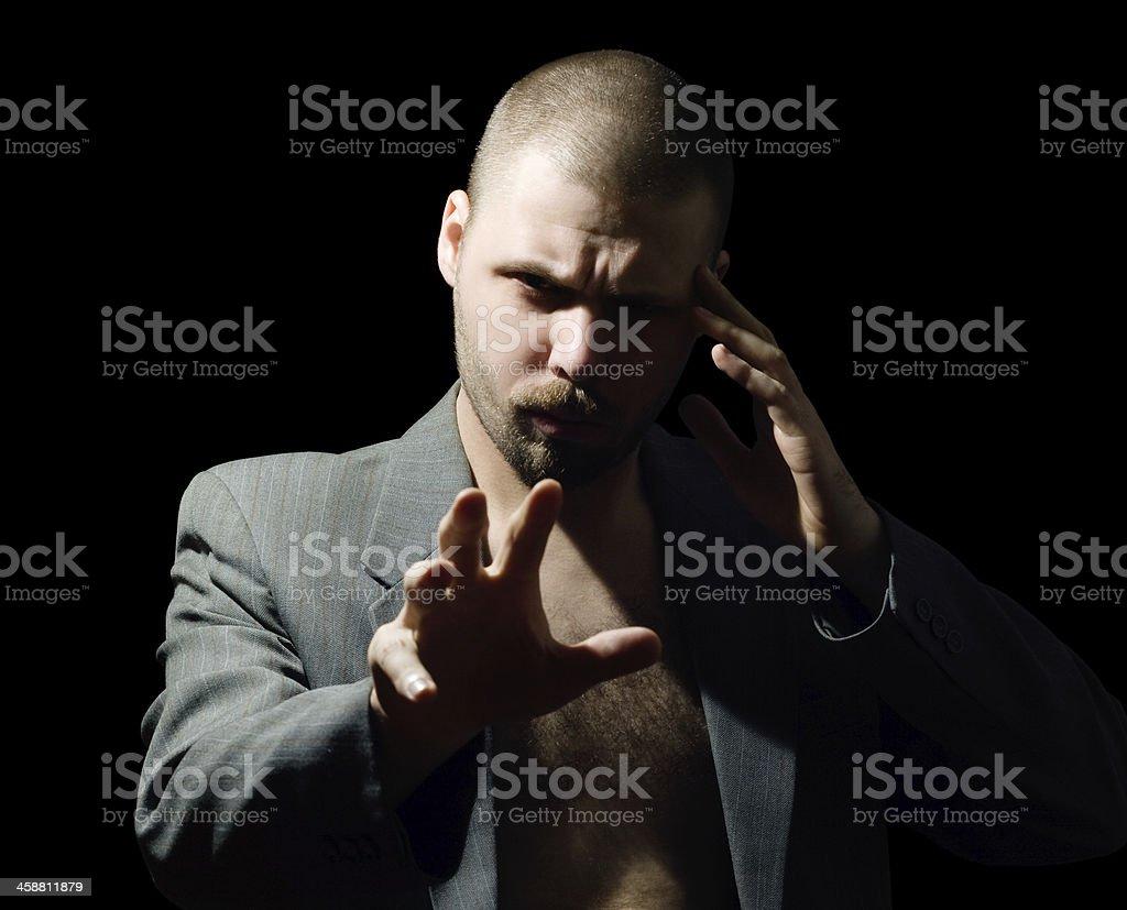 hypnotic man stock photo