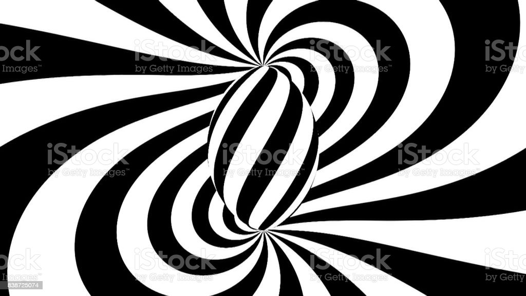 Hypnotic spiral. Black and white hypnosis stock photo