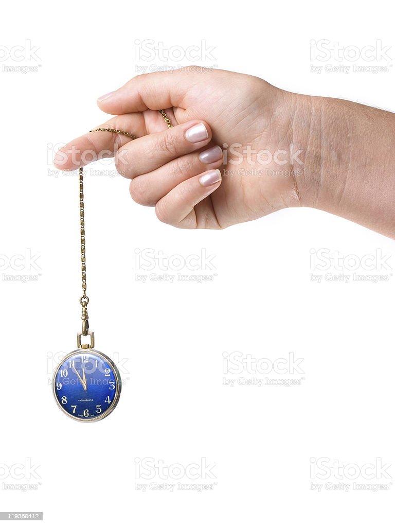 Hypnotic watch royalty-free stock photo