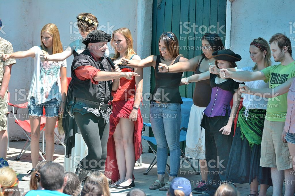 Hypnotist at the Colorado Renaissance Festival stock photo