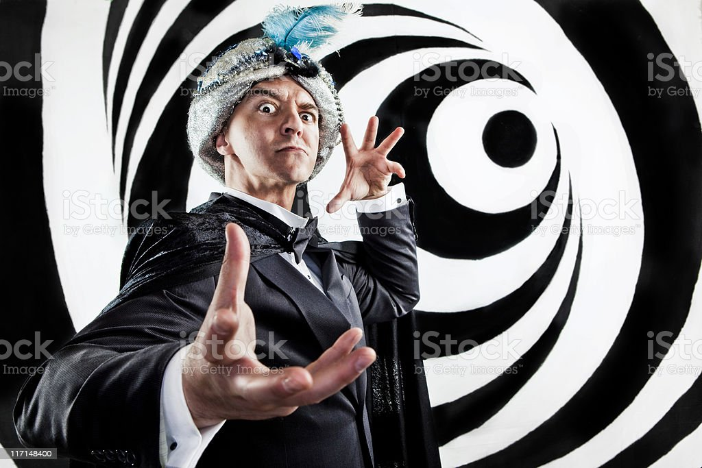 Hypnotist Mind Control stock photo