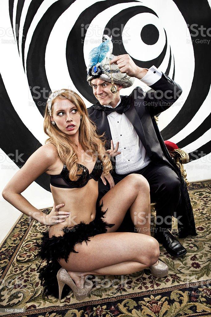 Hypnotist Mind Control stock photo