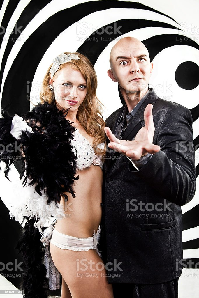 Hypnotist Mind Control royalty-free stock photo