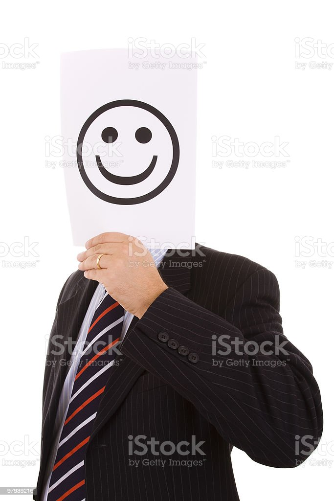 hypocrite businessman royalty-free stock photo