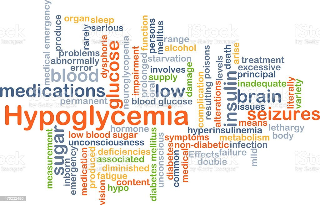 Hypoglycemia background concept stock photo