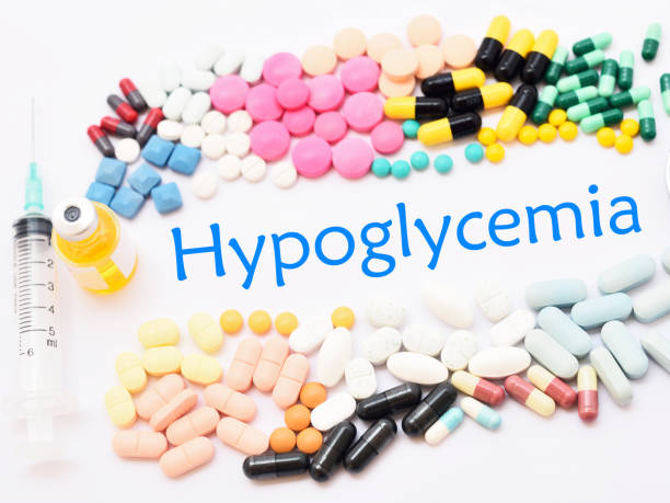 Hypoglycemia treatment Drugs for hypoglycemia treatment, medical concept hypoglycemia stock pictures, royalty-free photos & images
