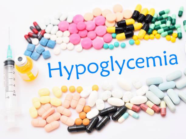 hypoglykämie-behandlung - hypoglykämie stock-fotos und bilder