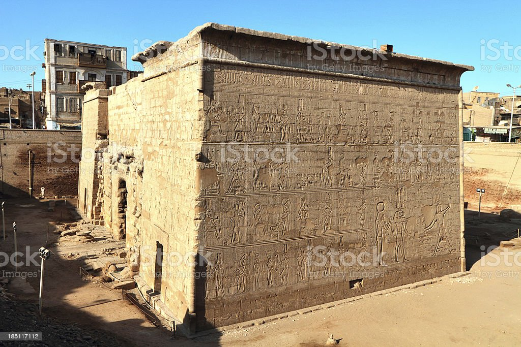 Hypostyle Hall, Temple of Khnum, Esna, royalty-free stock photo