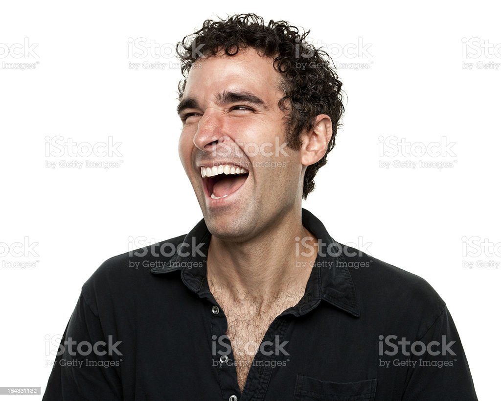 Hysterical Laughing Man stock photo