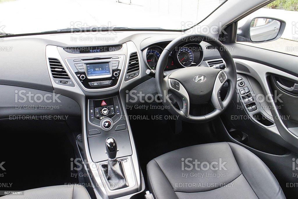 Hyundai Elantra 2014 Interior stock photo