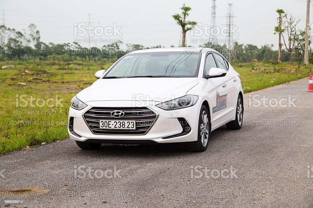Hyundai Elantra all new 2016 car stock photo