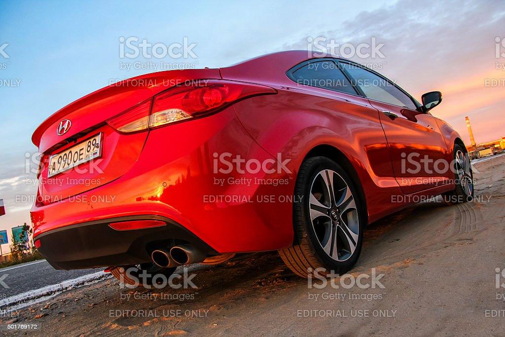 Hyundai Elantra Coupe stock photo