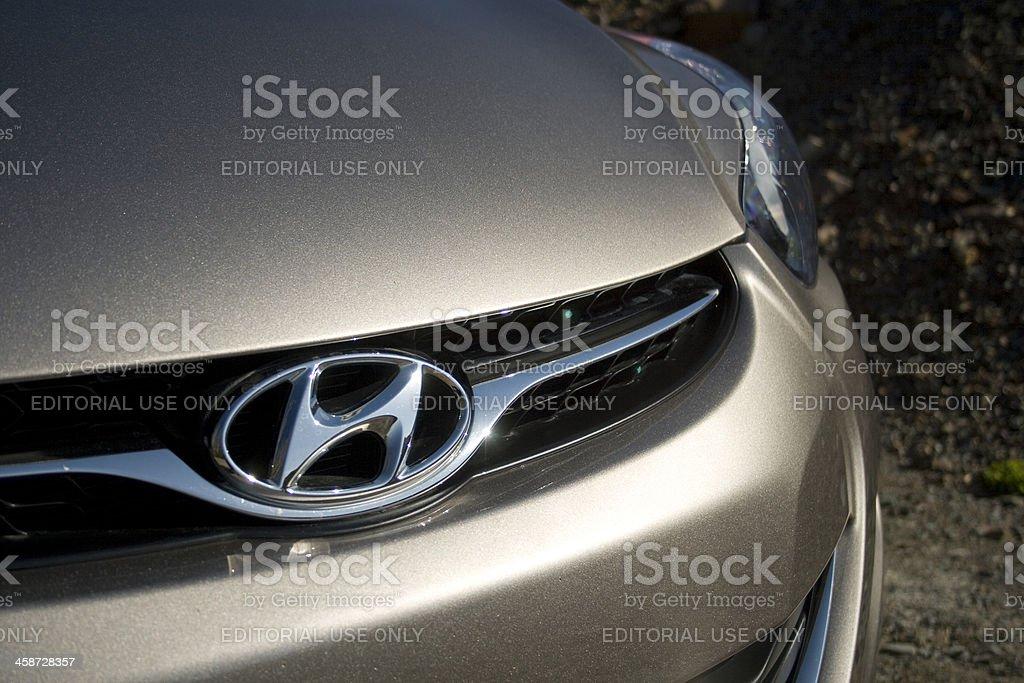 Hyundai Elantra Logo stock photo